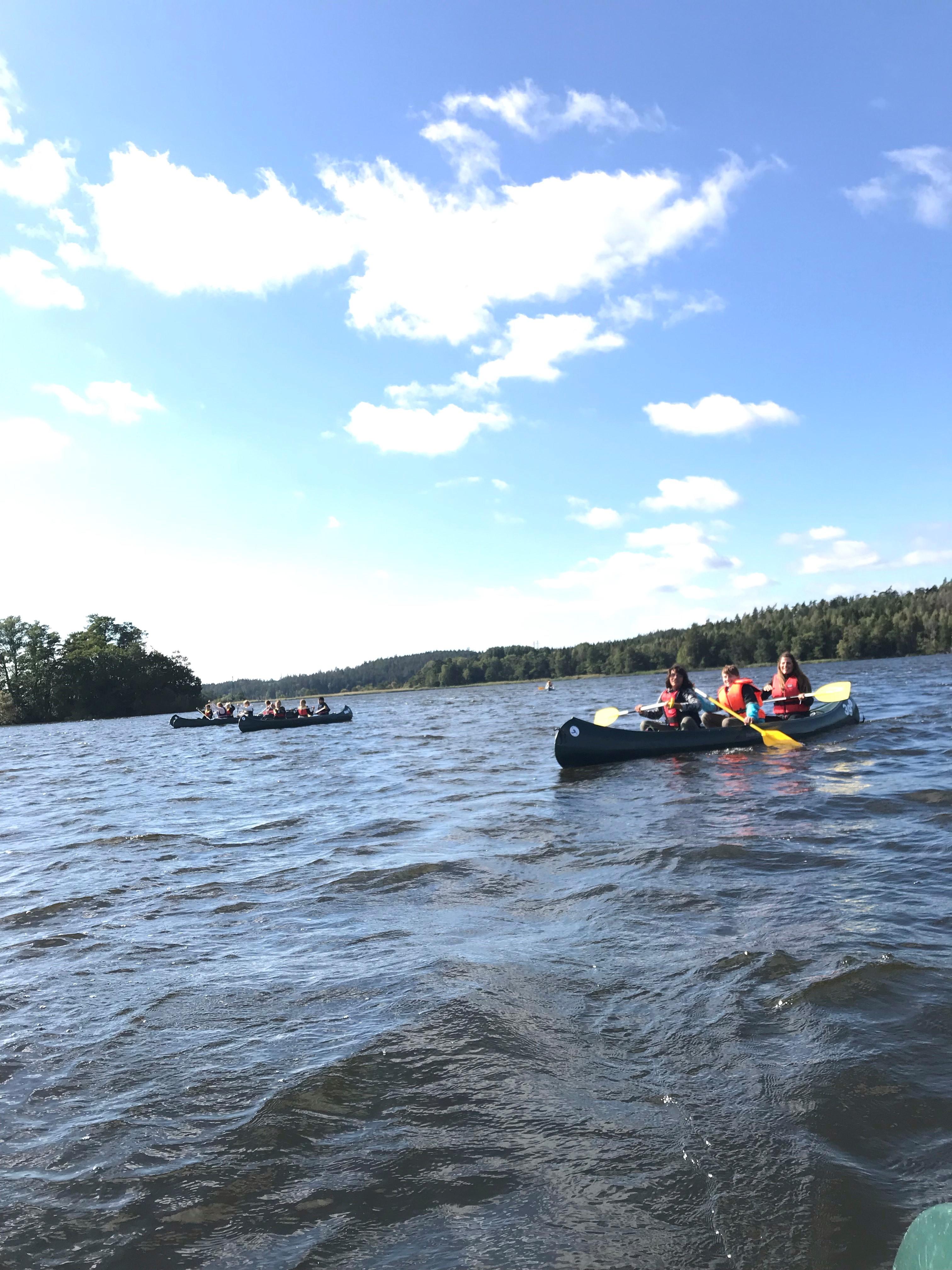 Den årliga paddlingen